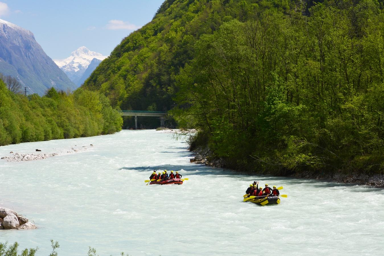 OKOLICA-Reka soča, rafting, Triglav